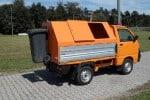 Müllaufbau Standard mit Öffnungsklappen